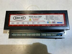 Sho me 21 t9660 6 Outlet Strobe Light Power Supply Input 70w output 60w