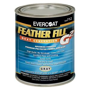 Evercoat Feather Fill G2 1 Qt Gray Premium Spray on Polyester Primer Surfacer