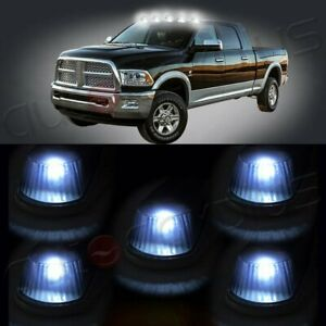 5x 15442 Cab Roof Marker Running Lights White Led Bulbs For 1980 1997 Ford F350