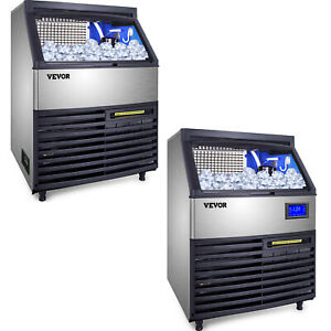 Commercial Ice Maker Ice Cube Maker 120 200kg Ice Cream Maker Sus 99lbs Storage