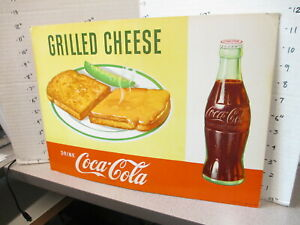 COCA COLA Coke bottle 1958 soda fountain diner store display sign GRILL CHEESE