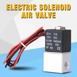 12v 1 4 2 Way Pneumatic Aluminum Electric Solenoid Air Valve Normally Closed