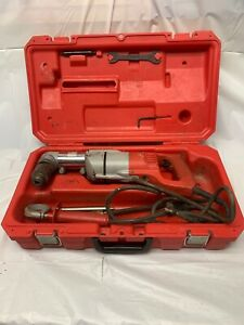 Milwaukee 3102 6 1 2 D handle Right Angle Drill Kit Used Tested