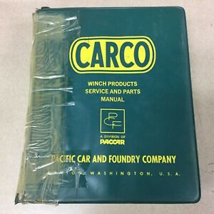 Carco Paccar Huge Binder Of Service Manuals Operator Guides Parts Books List Lot