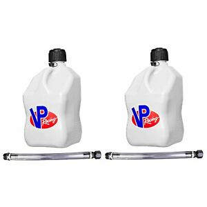 Vp Racing Fuels 5 gal Motorsport Container White W 14 Standard Hose 2 Pack