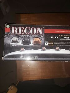 Recon 264143bk Black Smoke Led Cab Roof Lights Kit For 1999 2016 Ford Super Duty