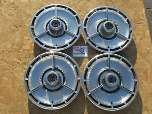 1964 Chevy Impala Ss Nova Ss 14 Spinner Wheel Covers Hubcaps Set Of 4