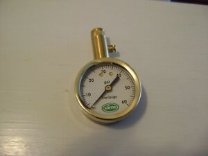 Slime Dial Tire Pressure Gauge Brass W Release Button As Pictured