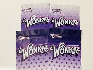50ct Wonkaz Bags Balla Berries Zipper Cookies Bags 24hr Shipping 4x6in