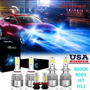 For Mazda 3 2004 2005 2006 8000k 9005 H7 Headlight H11 Fog Light Led 6x Bulbs