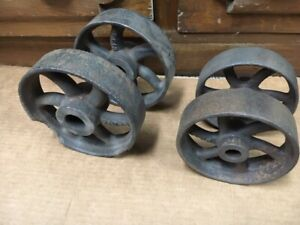 Cast Wheel Antique Hit And Miss Gas Engine Cart Set Of 4 6 And 5 Trucks