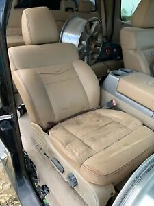 2004 2008 Ford F 150 King Ranch Complete Interior Tan Leather Seat Set Console