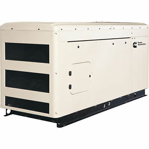 Cummins Commercial Standby Generator 25 Kw Lp ng 120 208v 3 phase Model Rs25