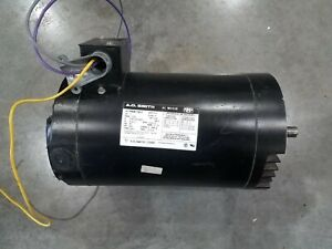 3 Phase Electric Motor 2 Hp A o Smith 230 460 Volt Frame 56c