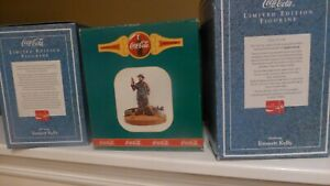 COCA-COLA LIMITED EDITION 3 FIGURINES FEATURING EMMETT KELLY   IN BOXES.
