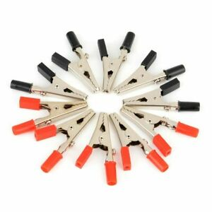 10pcs Stainless Steel Alligator Clips Crocodile Cable Test Clamps Probe Fixing