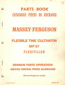 Massey Ferguson 37 Flex Tine Cultivator Parts Manual