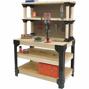 2x4 Basics Anysize Garage Workbench Tool Shelf Storage Table Workshop Diy Kit