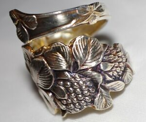 Mechanics Clover Brilliant Fanciest Sterling Silver Spoon Ring Free Shipping