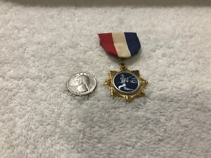 Scarce Vintage 1950's-60's Coca-Cola Bottling Co. Baseball Ribbon And Medal
