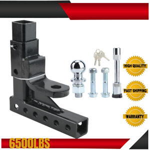 Adjustable Height 6500lbs Towbar Tow Bar Hitch 50mm Ball Mount Tongue Trailer