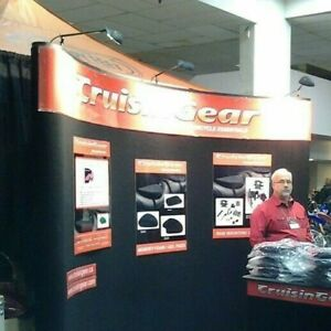 Trade Show Booth Black Curved 10 Display Pop Up Set Up W Case With 3 lights