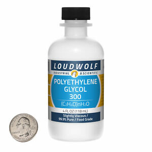 Polyethylene Glycol 300 4 Fl Oz Bottle 99 9 Food Grade Slightly Viscous