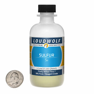 Sulfur 3 Ounce Bottle 99 Pure Reagent Grade Finely Milled Flour Usa