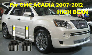 Led For Gmc Acadia 2007 2012 Headlight Kit H7 6000k White Cree Bulbs High Beam