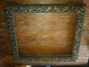 Stunning Antique Wood Picture Frame Blackberries Cottage Chic Romantic 20x24