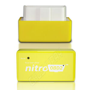 1x New Obd2 Performance Tuning Chip Box Gas petrol Vehicles Plug Drive Yellow