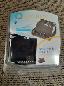 Rolodex Home Office Mobile Black 125 Ct Mesh Card File Holder 2 25 X 4 Indexed