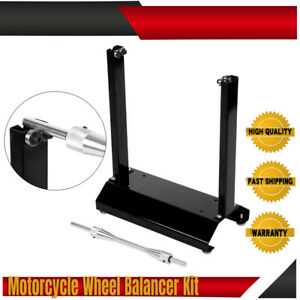 New Motorcycle Wheel Balancer And Truing Stand Street Off Road Maintenance Rack