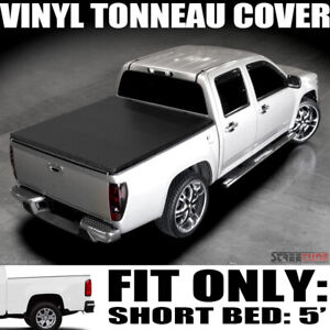 For 15 21 Chevy Colorado gmc Canyon 5 Short Bed Hidden Snap Vinyl Tonneau Cover