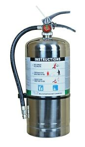 Lot Of 1 K Class Kitchen Fire Extinguisher Includes Wall Mount And Sign