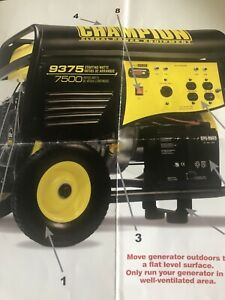 Brand New Champion Portable Generator Never Used 9375 Starting Watts Elect Srt