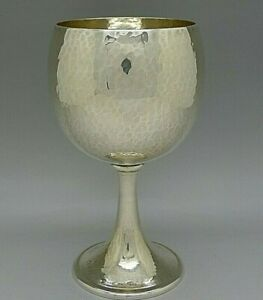 Buccellati Italian Sterling Silver Hammered Goblet Cup Rare Unusual Must See