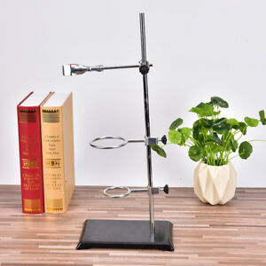 50cm Chemistry Laboratory Retort Base Stand Support Lab Flask Clamp 3ring Cla Ci