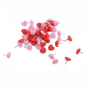 Heart Shape Push Pins Pink Red Lovely Cork Boar Home Wall Tacks Decorative Co