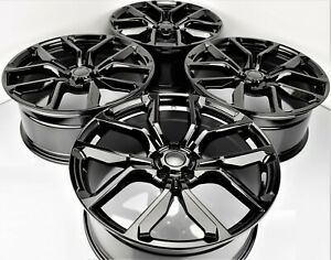 22x9 5 Svr Style Gloss Black Wheels Fit Range Rover Land Rover 5x120 Rims Set 4