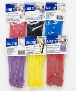 4 Cable Ties Zip Tie 4 Inch 6 Different Colors Or Mix Nylon Qty 75 100 450