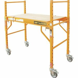 Metaltech Multi purpose 4ft Baker style Scaffold 500lb Cap Steel Model I sm4b