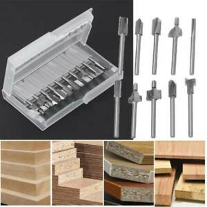 Woodworking Edging Cutter Router Wood Milling Cutter Bits Fits Rotary Tool Set