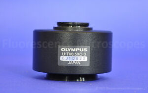 Olympus U tv0 5xc 3 C mount Camera Adapter For Bx Ix Microscope