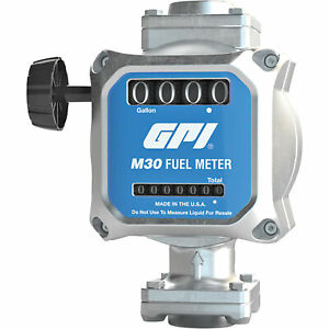 Gpi Quick fit Mechanical Fuel Meter 1in Inlet outlet Model M30 g8n