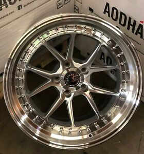 18x8 5 Silver Machined Aodhan Ds08 Wheels 5x100 35 Rims 18 Inch Set 4