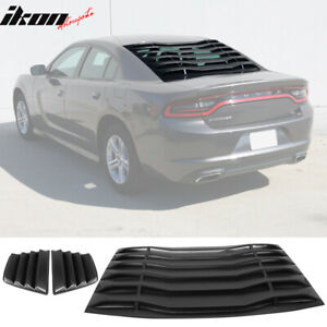 Fits 11 20 Dodge Charger V1 Style Rear Window Louver W Side Quarter Scoop Vent