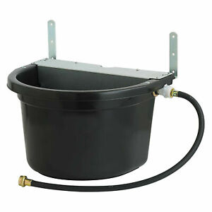 Little Giant Fw16mtlblack 4 Gal Float Controlled Waterer Livestock Water Trough