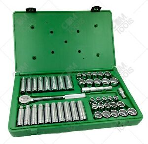 Sk Hand Tools 4147 47pc 1 2 dr 12pt Standard And Deep Sae And Metric Socket Set