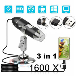 1000x 1600x Usb Zoom Digital Microscope For Electronic Accessories Coin Inspect
